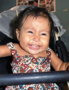 Baby Kensy at the orphanage
